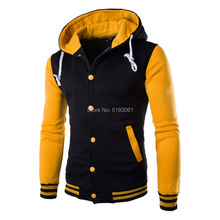 2019 Men's Hoodies Pullovers Striped  patchwork  Baseball Jacke Sweatshirts College Varsity Coats Thin Hoodie Men Clothes недорого