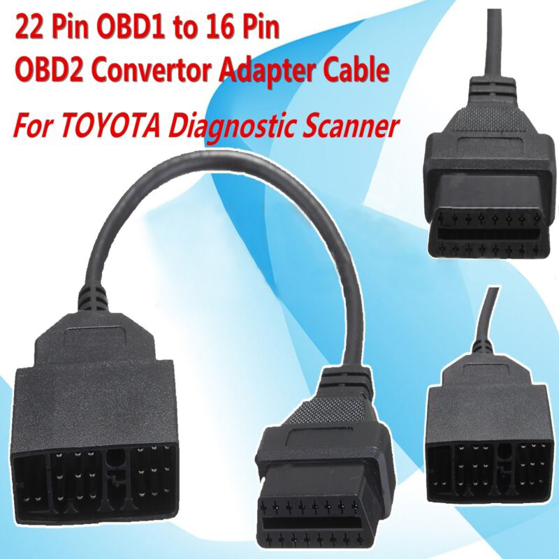 <font><b>22</b></font>-<font><b>Pin</b></font> OBD1 16-<font><b>Pin</b></font> <font><b>OBD2</b></font> For <font><b>Toyota</b></font> Diagnostic Scanner Tools Connector <font><b>Adapter</b></font> image