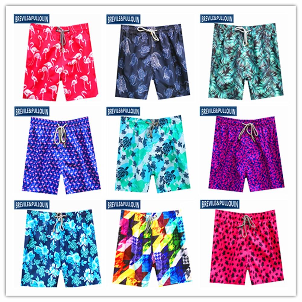 Online Stock 2020 Brand Brevile Pullquin Beach Boardshorts Men Turtles Swimwear Mens Ultra Light Packable Swimtrunks Quick Dry