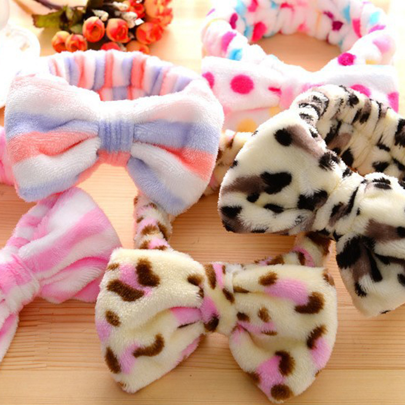 36 Style Print Strawberry Rabbit Ears Headdress Hair Bands For Women And Girls Makeup Mask Stretch Cartoon Hair Accessories