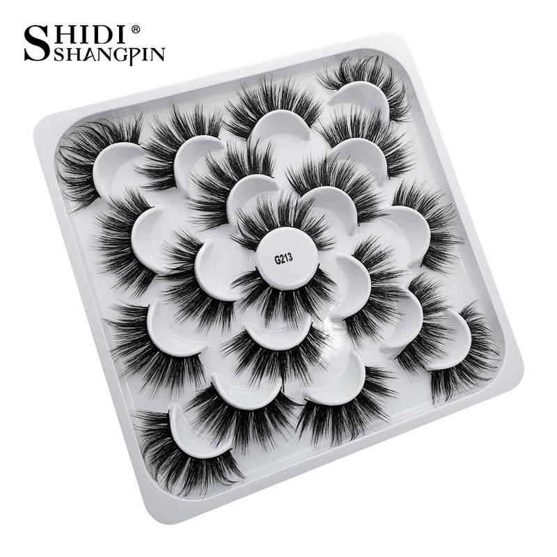 SHIDISHANGPIN 3D Eyelashes Natural Mink Lashes 25mm Lashes Mink Eyelashes Fluffy False Eyelashes For Makeup Maquillaje Faux Cils