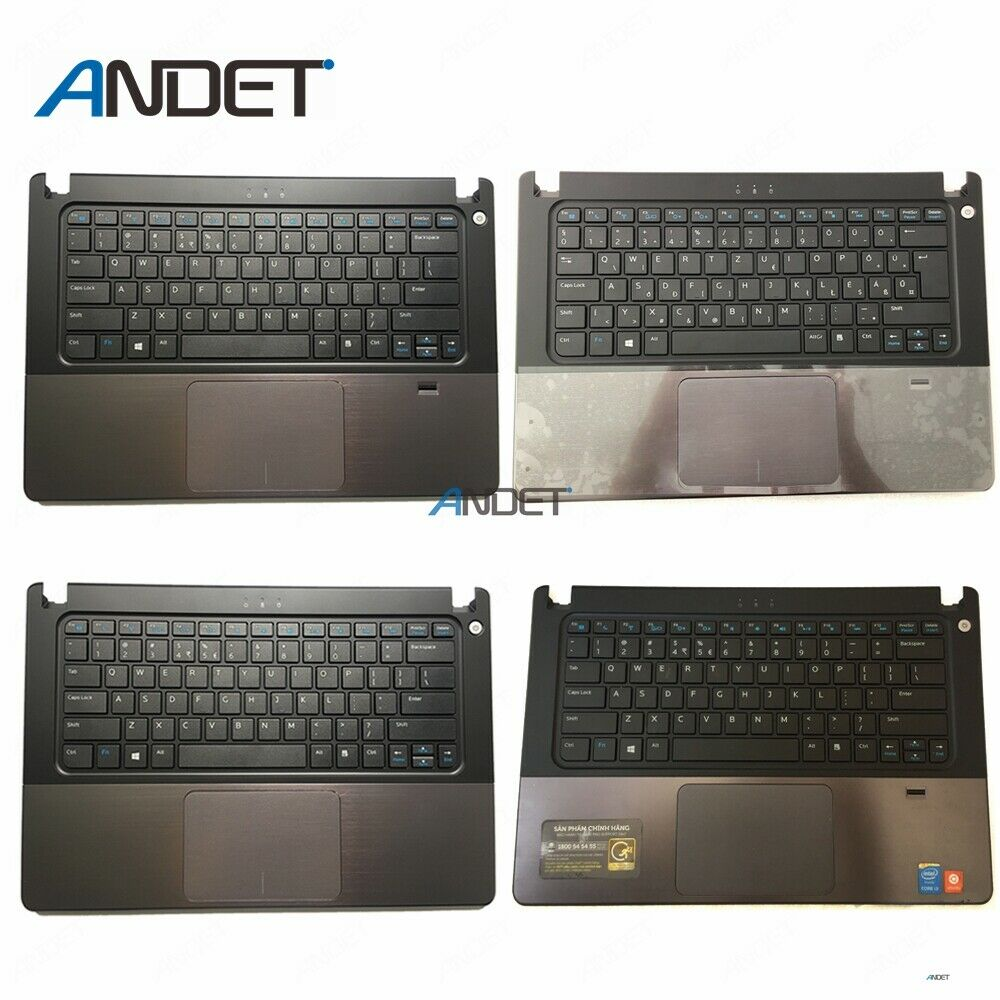 Original For Dell Vostro V5460 V5470 V5480 5460 5470 5480 Palmrest Upper Case Bezel Cover Lid Shell Keyboard Touchpad image