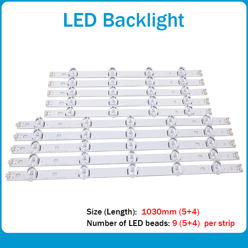 10pcs LED Strip For LG INNOTEK DRT 3.0 50