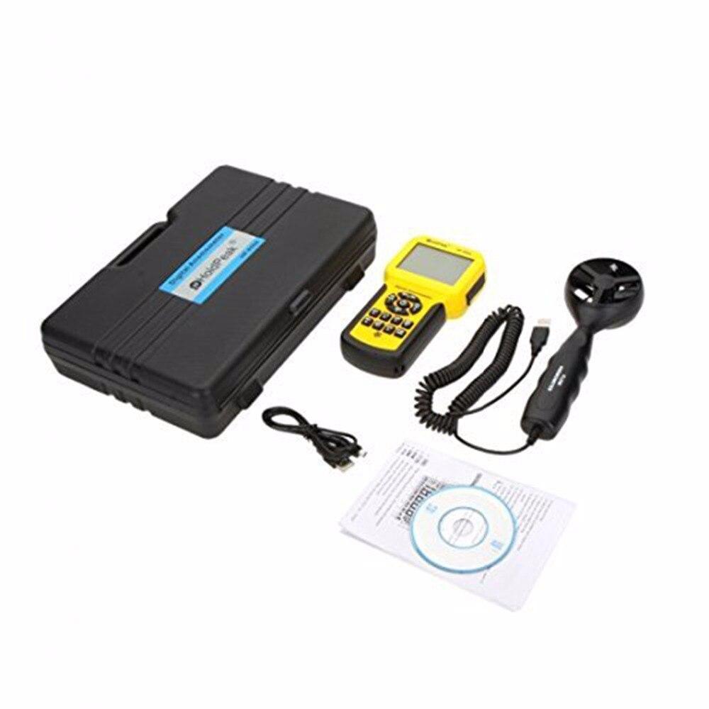 Anémomètre de HP-856A de HoldPeak de mètre de Volume d'air de vitesse de vent numérique USB/tenu dans la main avec l'enregistreur de données - 5