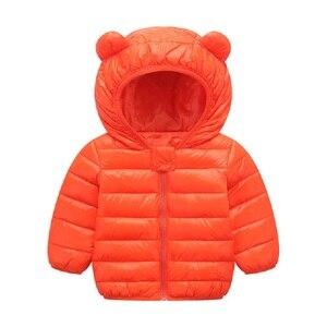 Image 5 - אביב סתיו אור ילדי חורף מעילי ילדים כותנה למטה מעיל תינוק מעיל דובון בנות הלבשה עליונה נים ילד מעיל