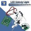 3V-5,5 V Голосовое управление Управление светильник светодиодный световая мелодия модуль DIY Электронные Забавный комплект производственный к...