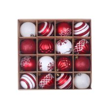 Christmas tree popular pendant Christmas supplies gift decoration colorful ball 6cm 16 box PVC Christmas display ball