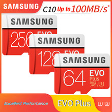 SAMSUNG – carte mémoire micro sd evo plus, classe 10, U3/U1, 256 go/128 go/64 go/32 go jusqu'à 60 mo/s, carte mémoire