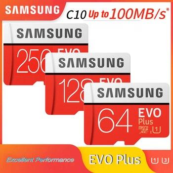 SAMSUNG microsd card 256G 128GB 64GB 32GB up to 60Mb/s Class10 U3/U1 EVOPlus micro sd card memory Card cartao de memoria