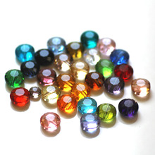 16inches 6mm 8mm 10mm latest fashion crystal diy jewelry beads button shape flower cutting glass create your style