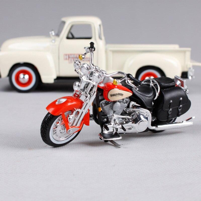 Maisto Harley-Davidson 2001 FLSTS Heritage Springer /& 1950 Chevy 3100 Diecast Vehicle 1:24 Scale