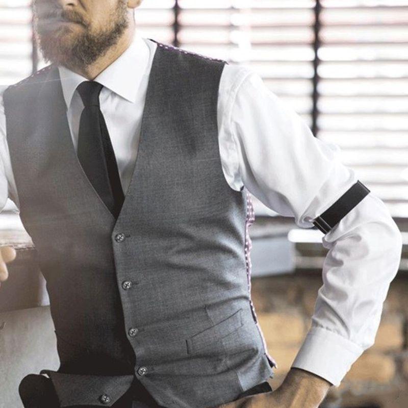2pcs Mens Groom Shirt Sleeve Holder Metal Non-slip Strap Elastic Stretch Armband 40JF