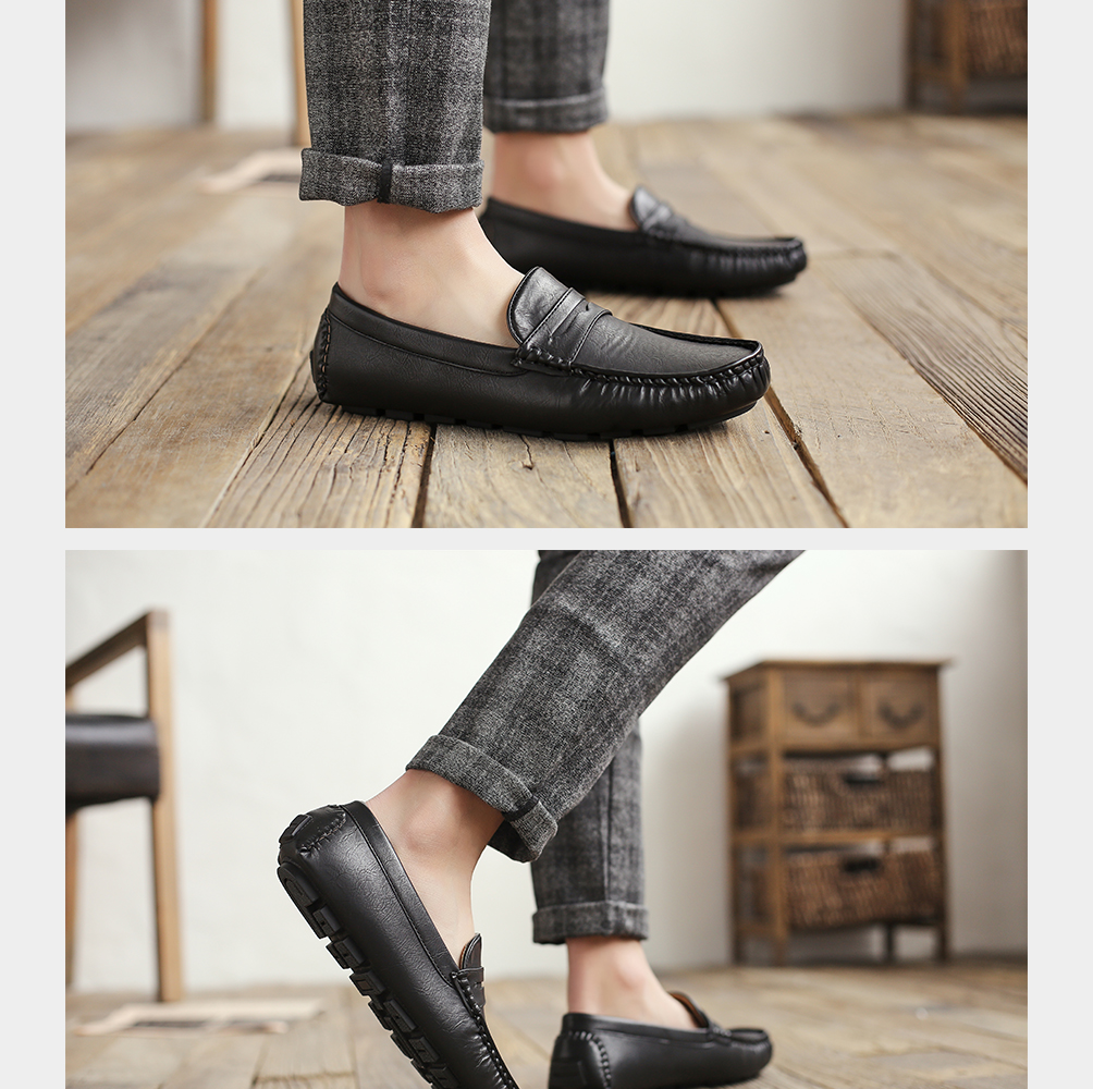 Hc06590ab1a6740c78fdc2d3f278898ebl Men's Casual Shoes Men Moccasins Autumn Fashion Driving Boat Shoes Male Leather Brand Slip-On Classic Men's shoes Loafers