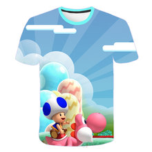 цена 2020 summer Mario boys clothes New Harajuku style Classic games Mario Bros 3D print t-shirts hip hop kids clothes Street T-shirt онлайн в 2017 году
