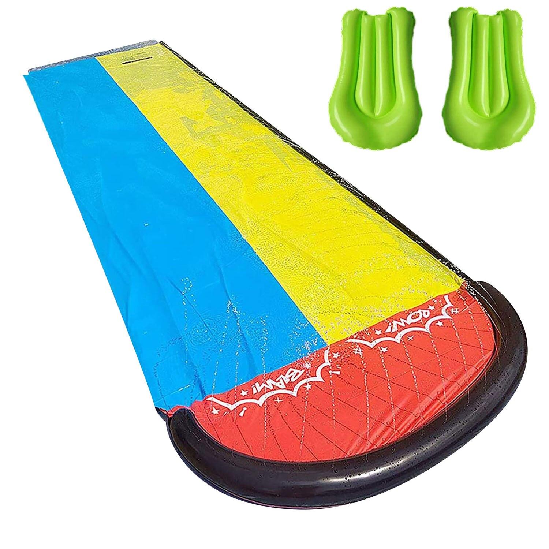 Water Park Backyard Water Slide Outdoor Garden Racing Lawn Water Slide Spray Summer Water Games Toy Toboggan Aquatiqu
