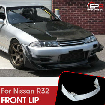 For Nissan Skyline R32 GTR TBO Style FRP Front Bumper Lip Exterior Car accessories Body Kits(fit on standard GTR front bumper)