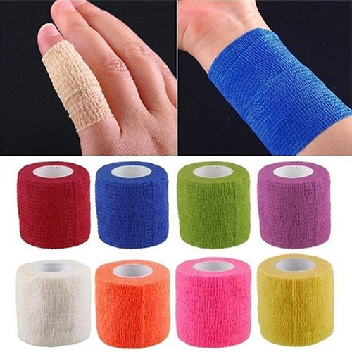 4.5m Elastic Bandage Wrap Tape Sports Safety Self Adhesive Athletic Wrap Colorful Knee Finger Ankle Palm Shoulder Support Pads