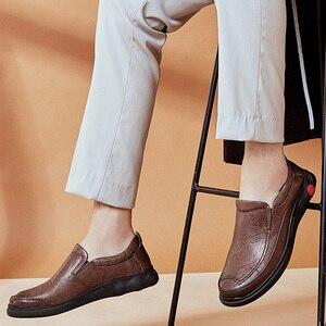 Image 5 - KAMEEL Herfst Nieuwe Toevallige mannen Instappers Mannen Echt Lederen Schoenen Mode mannen Business Lichtgewicht Elastische Slip Mannen Schoenen