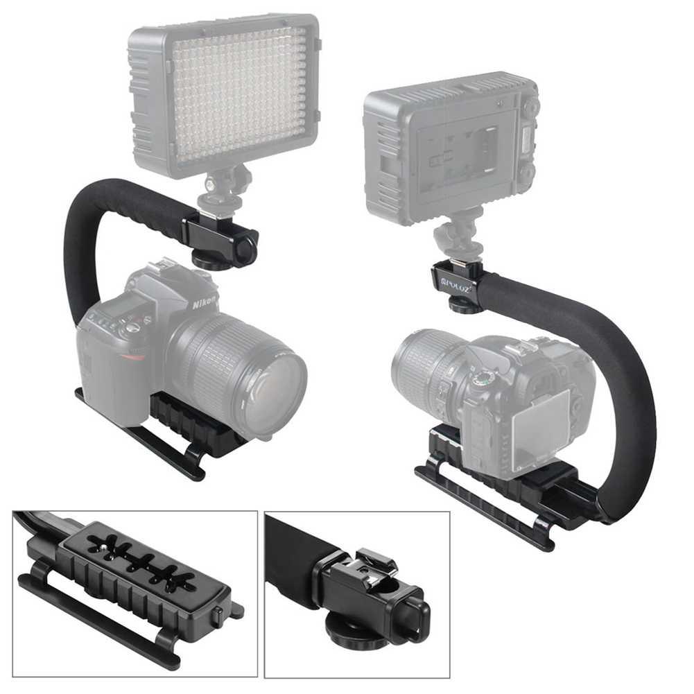 C בצורת כף יד מייצב מחזיק U-גריפ וידאו עבור DSLR ניקון Canon Sony מצלמה אור נייד SLR steadicam עבור Gopro