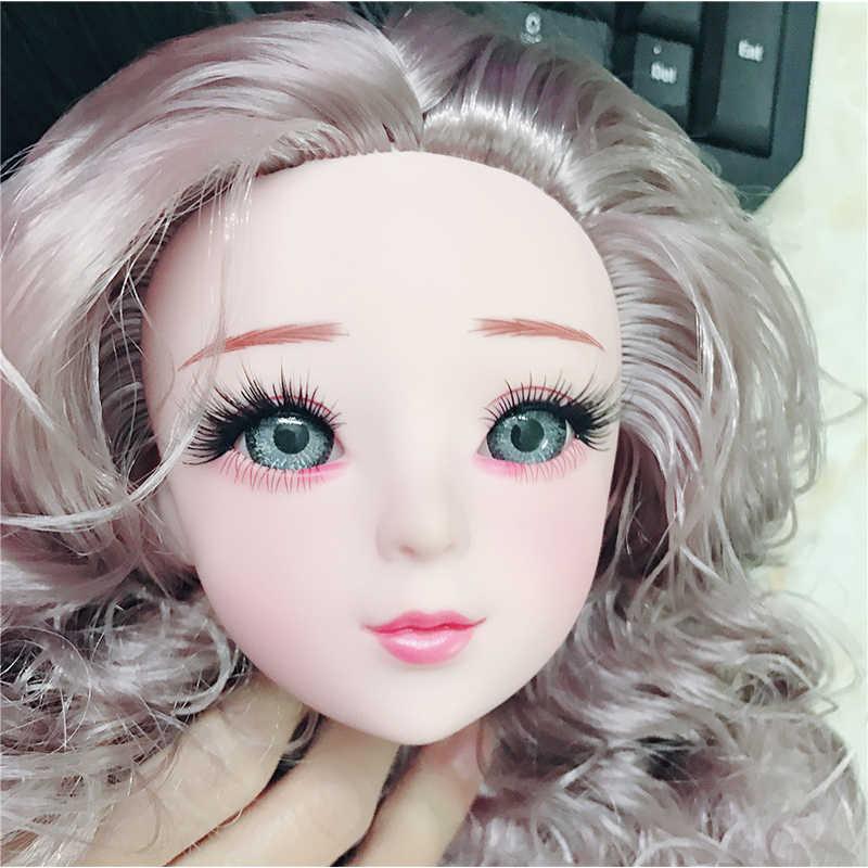 ใหม่ BJD ตุ๊กตาอุปกรณ์เสริมสำหรับ 1/3 BJD ตุ๊กตาของเล่นตุ๊กตาหัววิกผมไม่มีแฟชั่น DIY ตุ๊กตาแต่งหน้าของเล่นสำหรับของขวัญเด็ก