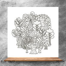 ZhuoAng tree Clear Stamps/Silicone Transparent Seals for DIY scrapbooking photo album Stamps