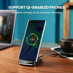 Image 5 - Bezprzewodowa ładowarka UGREEN Qi stojak na iPhone 11 Pro X XS 8 XR Samsung S9 S10 S8 S10E ładowarka do telefonu szybka bezprzewodowa stacja ładująca