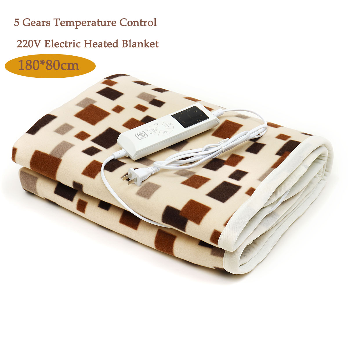 180x80cm Electric Blanket Heater Adjustable Temperature Heated Carpet Thermostat Body Warmer Bed Mattress Electric Heated Carpet