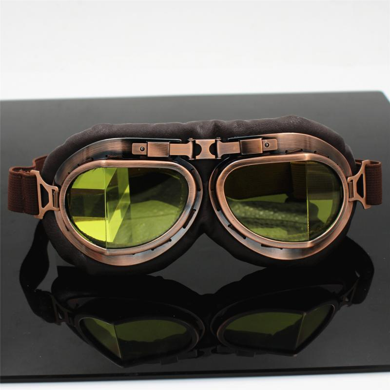 Electric Motorcycle Retro Goggles Break Angle Copper Harley Glasses Riding Windproof Anti-fog Sand Air Force Eye-protection Gogg