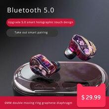 CALETOP TWS Bluetooth 5.0 Earphone True Wireless Earphones Heavy Bass Earbuds IPX7 Waterproof Running Sport Headsets