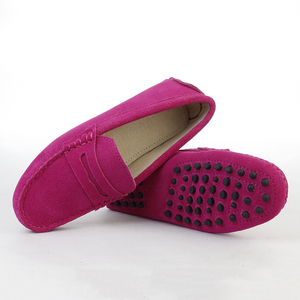 Image 5 - 2020 Giày Nữ Nam Da Thật 100% Chính Hãng Da Phụ Nữ Đơn Giản Thoải Lười Slip On Nữ Đế Giày Mộc Mạch Trà Nữ Lái Xe giày