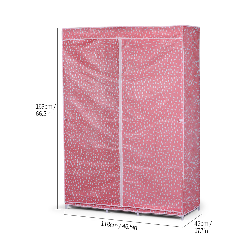 Hot Fully Closed Portable Non woven Fabric Cover Clothes Storage font b Closet b font Quilts