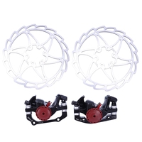 Bike Disc Brake Kit Front And Rear 160Mm Caliper Rotor Mountain Bike Bicycle Brake Set