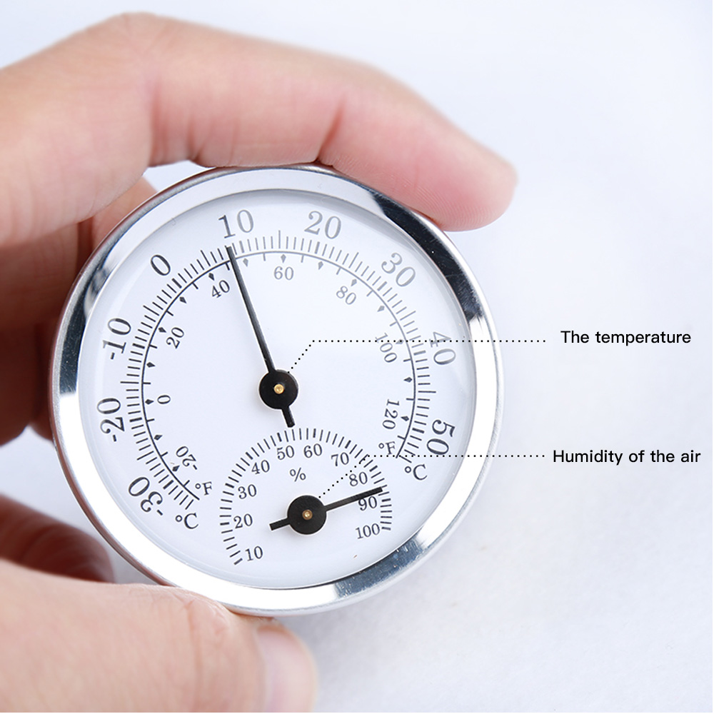 Wall Mounted Temperature Humidity Meter Thermometer & Hygrometer For Sauna Room Household Baby Room Gadget Tools High Quality