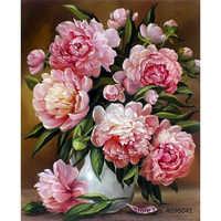 Pintura por números quadros colorir por números decoração de casa fotos flores vaso decorações rsb8421