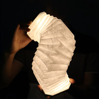 LED Flip Book light Lamp USB Folding Rechargeable Home Living Room Decoration Portable Wooden Warm White NightLight Dropshipping