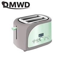 DMWD из нержавеющей стали хлебопечка электрический тостер торт тост сэндвич печь гриль 2 ломтика автоматическая машина для выпечки завтрака ЕС