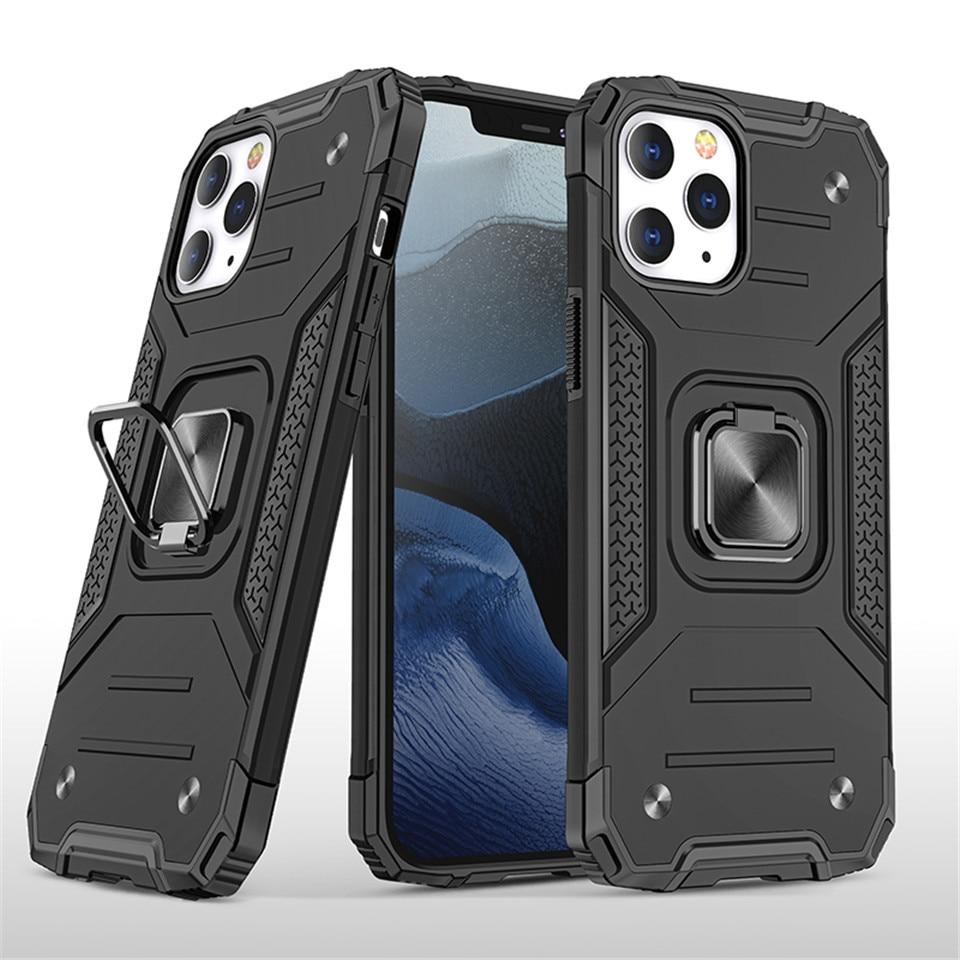 Чехлы для iPhone 12 Pro Max 11Pro X XS XR 7 8 Plus чехол для телефона с подставкой силиконовый ударопрочный магнитный автомобильный держатель кольцо чехол для телефона|Специальные чехлы|   | АлиЭкспресс