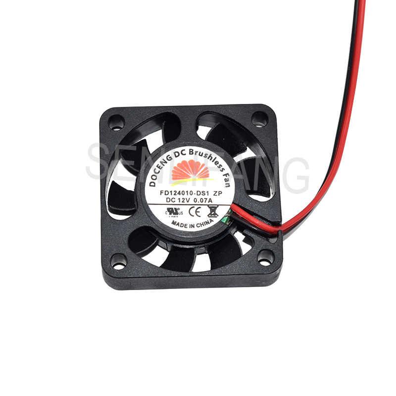 Для FD124010-DS1 ZP DC12V 0.07A 4010 4 см 40 мм 40X40X10MM 2pin Вентилятор охлаждения