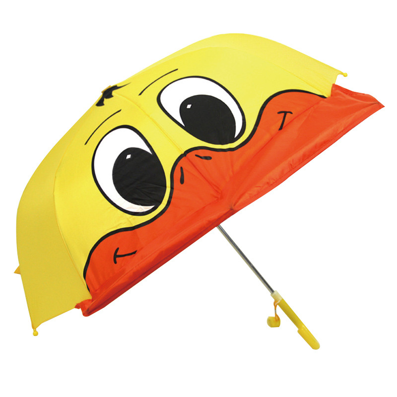 Currently Available Big Yellow Duck Cartoon San Duck Umbrella With Ears Children All-Weather Umbrella Creative Dong Wu San Custo