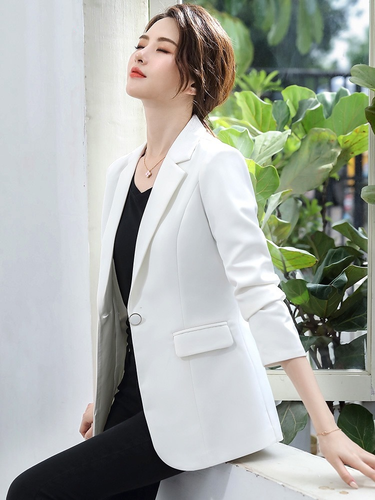 Women's suit 2020 spring and autumn new Korean style slim temperament all-match ladies Regular  Single Breasted