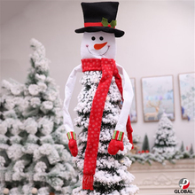 D&P 2019 Merry Christmas Ornaments Christmas Gift Santa Claus Snowman Tree Toy  tree decoration Doll Hang Decorations for home