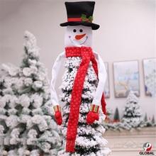 D & P 2019 adornos navideños de Papá Noel, árbol de muñeco de nieve, decoración de árbol, decoraciones colgantes para el hogar