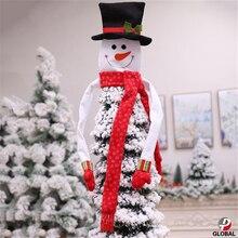 D & P 2019 メリークリスマス装飾品クリスマスギフトサンタサンタクロース木のおもちゃ木の装飾人形ハングの装飾ホーム