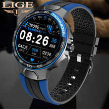 LIGE 2021 New Bluetooth Music Smart Watch IP68 Waterproof Heart Rate Monitoring Fitness Outdoor Sport Smartwatch For Android