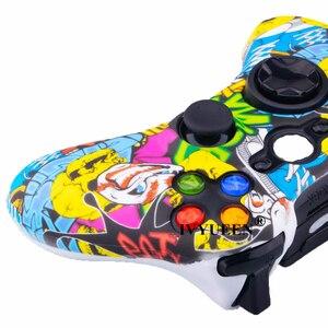 Image 5 - IVYUEEN نقل المياه الطباعة جلد واقي لمايكروسوفت Xbox 360 السلكية/وحدة تحكم لاسلكية غطاء من السيليكون مجموعة أغطية بلاستيك متعددة الألوان والأحجام