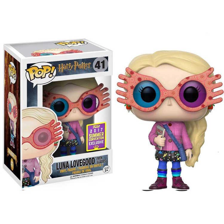 ファンコ POP ヴィンテージシルバーハッリ · ポッターコレクションモデルの子供のおもちゃルナメガネ人形 2019 アクションフィギュア少年のおもちゃ子供のため