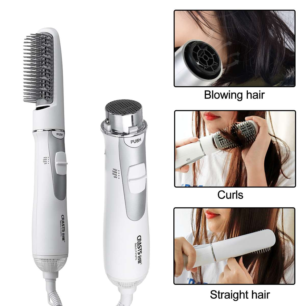 Multifunctional Hair Dryer 2 In 1 Blow Dryer Professional Hairdryer Hair Style Tools Hot Air Hair Dryer Curly Brush