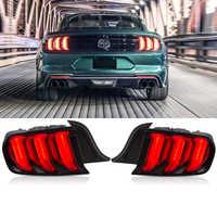 Coche 12V luces traseras LED para Ford Mustang luces traseras 2015-2019 cinco modos trasero DRL de freno Luz de señal de giro accesorios 2 uds
