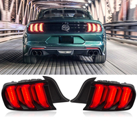 12V Car LED Tail Lights For Ford Mustang Taillights 2015 2019 Five Modes Rear DRL Brake Turn Signal Light Accessories 2pcs