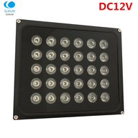 Cámara de circuito cerrado de televisión al aire de relleno de luz DC 12V 30 Uds IR iluminadores Led CCTV luz lámpara de infrarrojos IR Led de visión nocturna